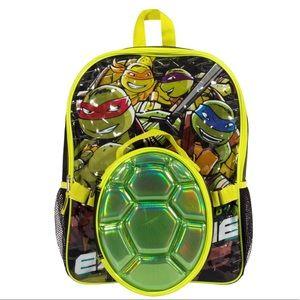 Ninja Turtles Backpack & Shell Lunch Box Set